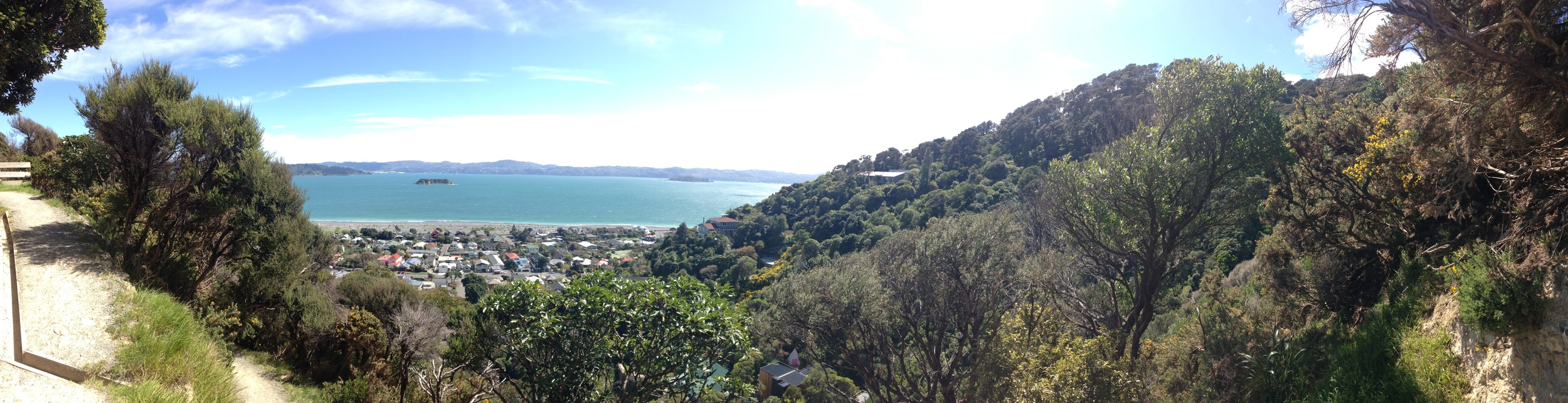 Looking from Muritai/ Eastborne back to Wellington