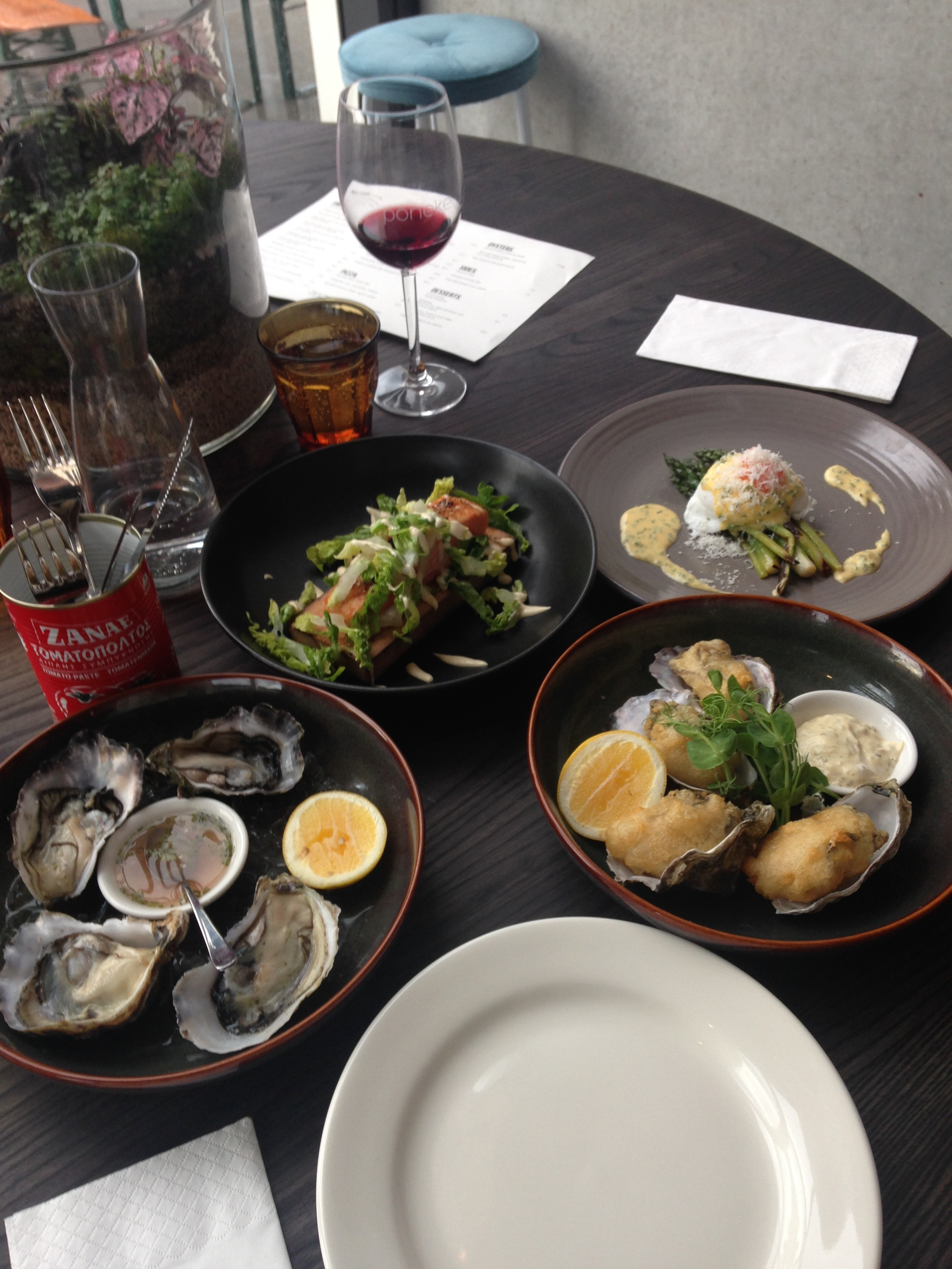 The Salmon was next level and wood smoked on the plinth it was served on & the oysters... welllll Oronga Bay- there is a Triumph coming your way VERY soon!