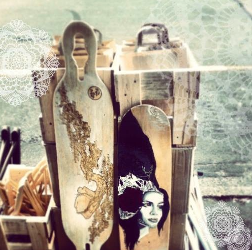 No only do they run a rad  t-shirt  competition and art collection but they make custom etched  skateboards :)