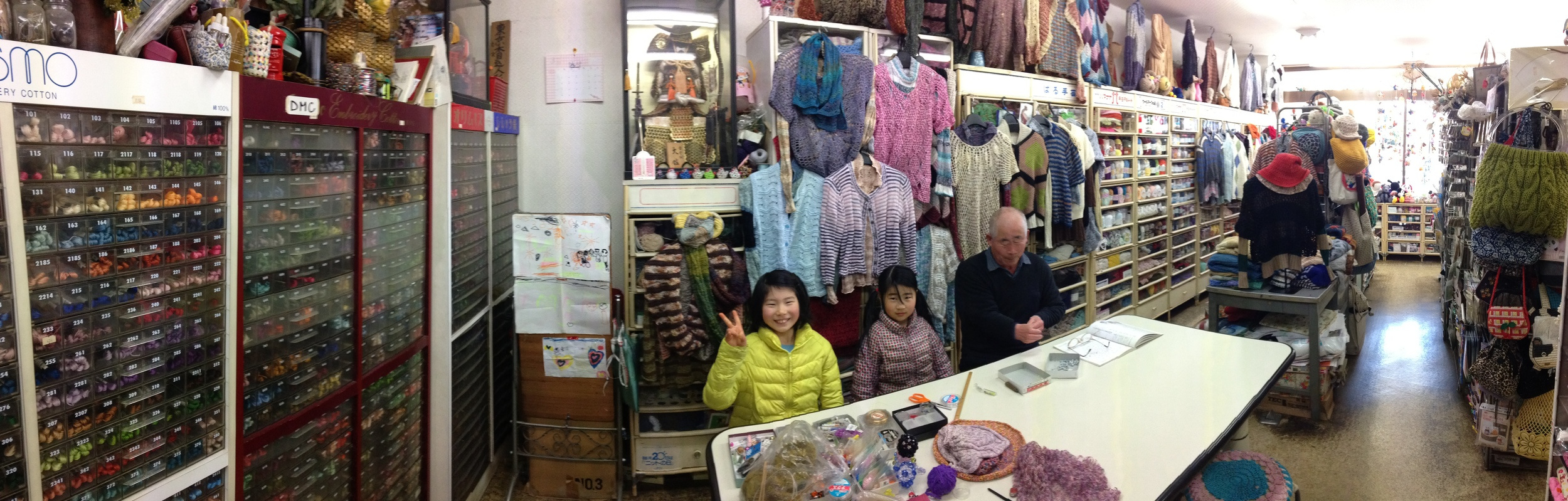 The local haberdashery shop with the kindest most patient gentleman owner... that's with dealing with me- not Ku-Chan and Mi-Chan!!