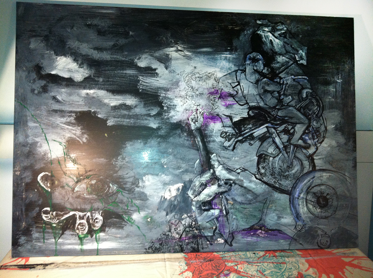 'Modern Knights' 1500 x 600mm, Mixed Media, 2012