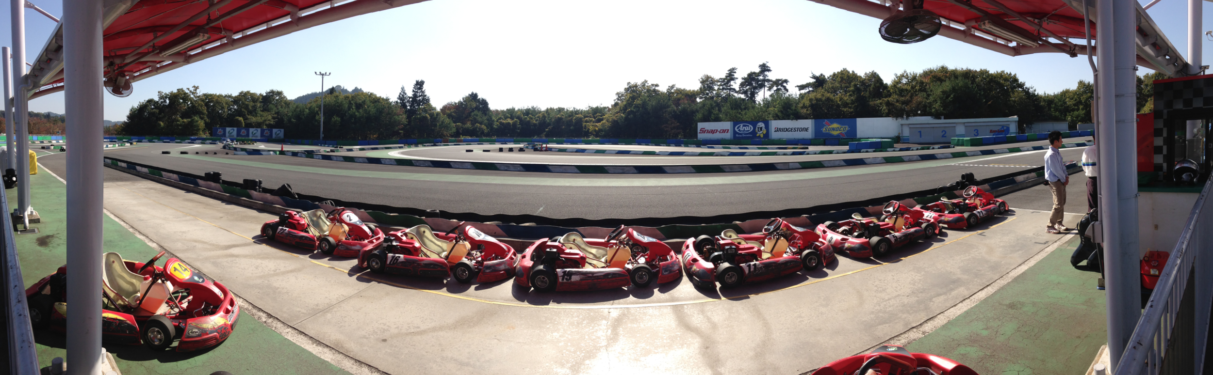 ^ GoKarting yyeeehaaww~! < Motorcyclist's run on our stomachs! Japanese food + onsen + motorbikes = bliss