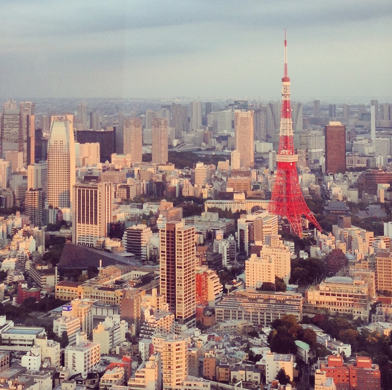 Taken at sunset from Mori Art Museum looking over to Tokyo Tower