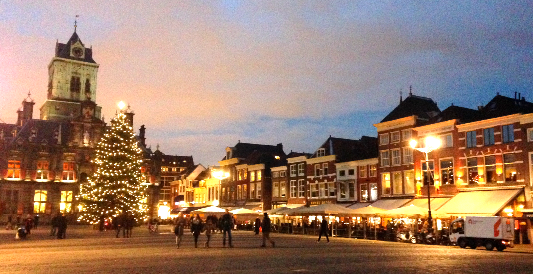 Christmas time in Delft, Netherlands
