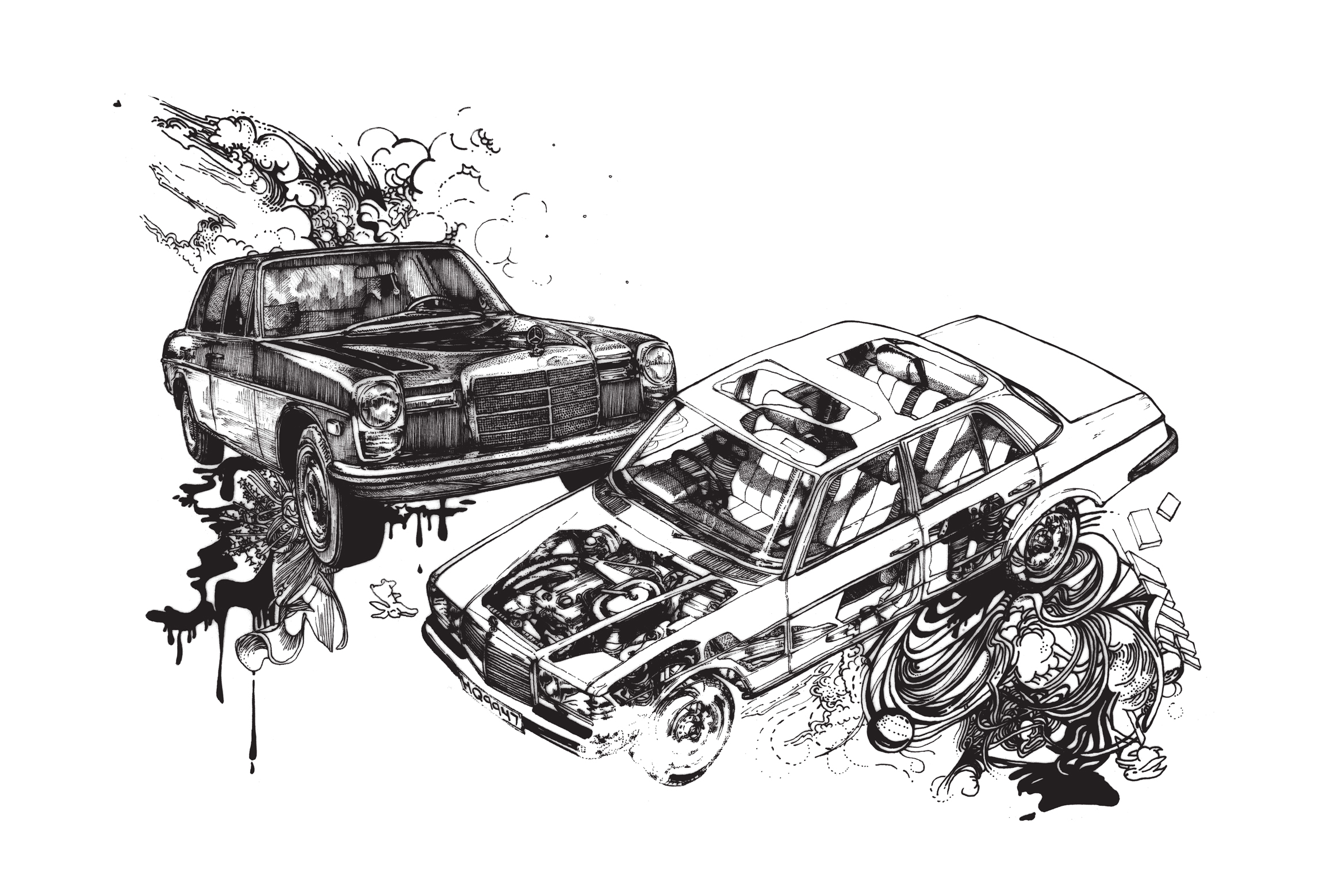 'BOOM the Mercedes'