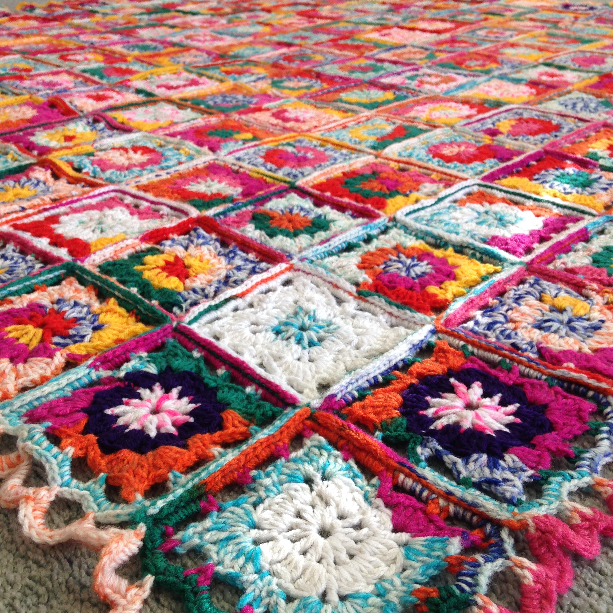'Only Warmth Heals' , Acrylic and wool crochet blanket, 1520 x 1520mm, 1/1, 2016