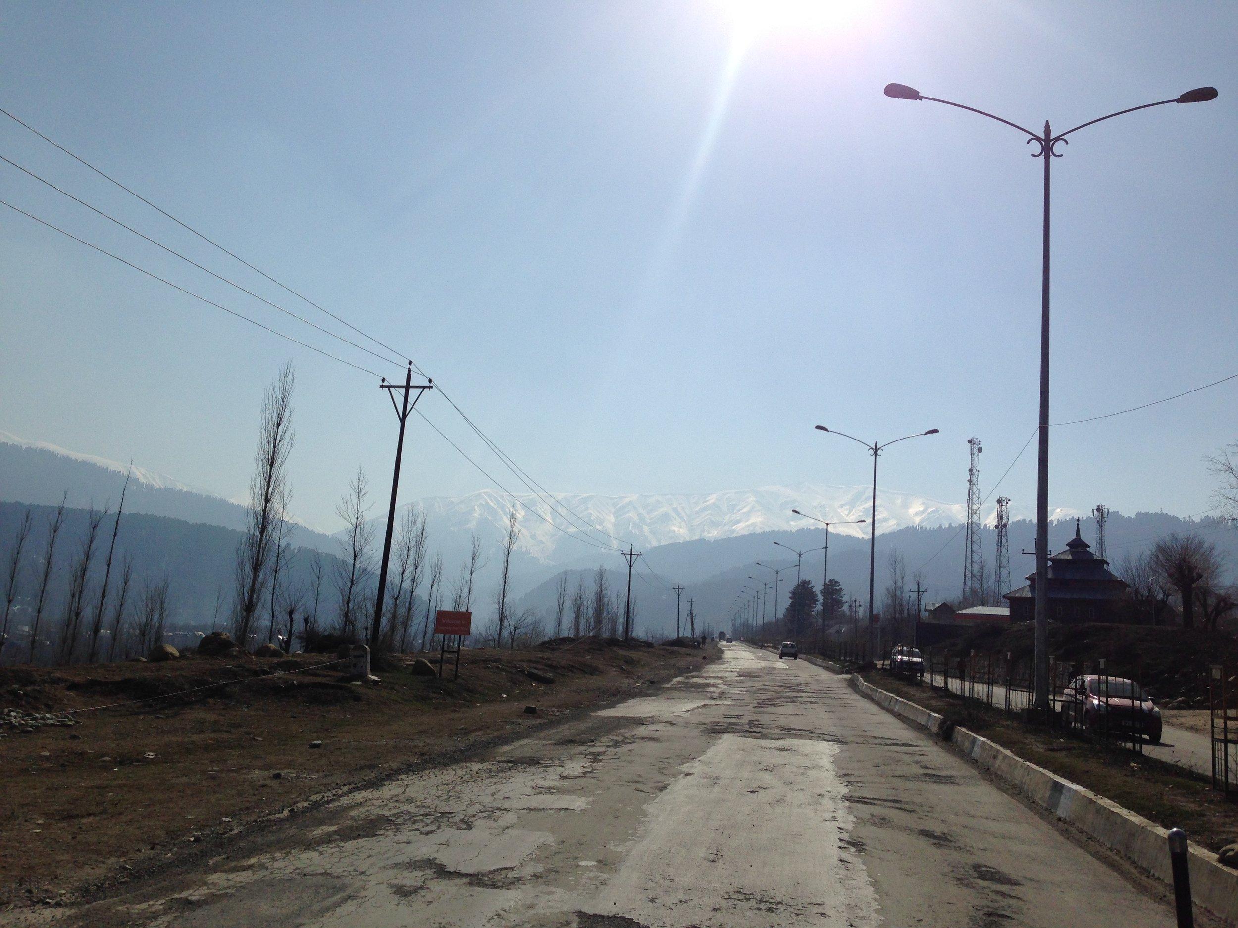 To Gulmarg from Tangmarg- Kongdoori Mountain in the Background