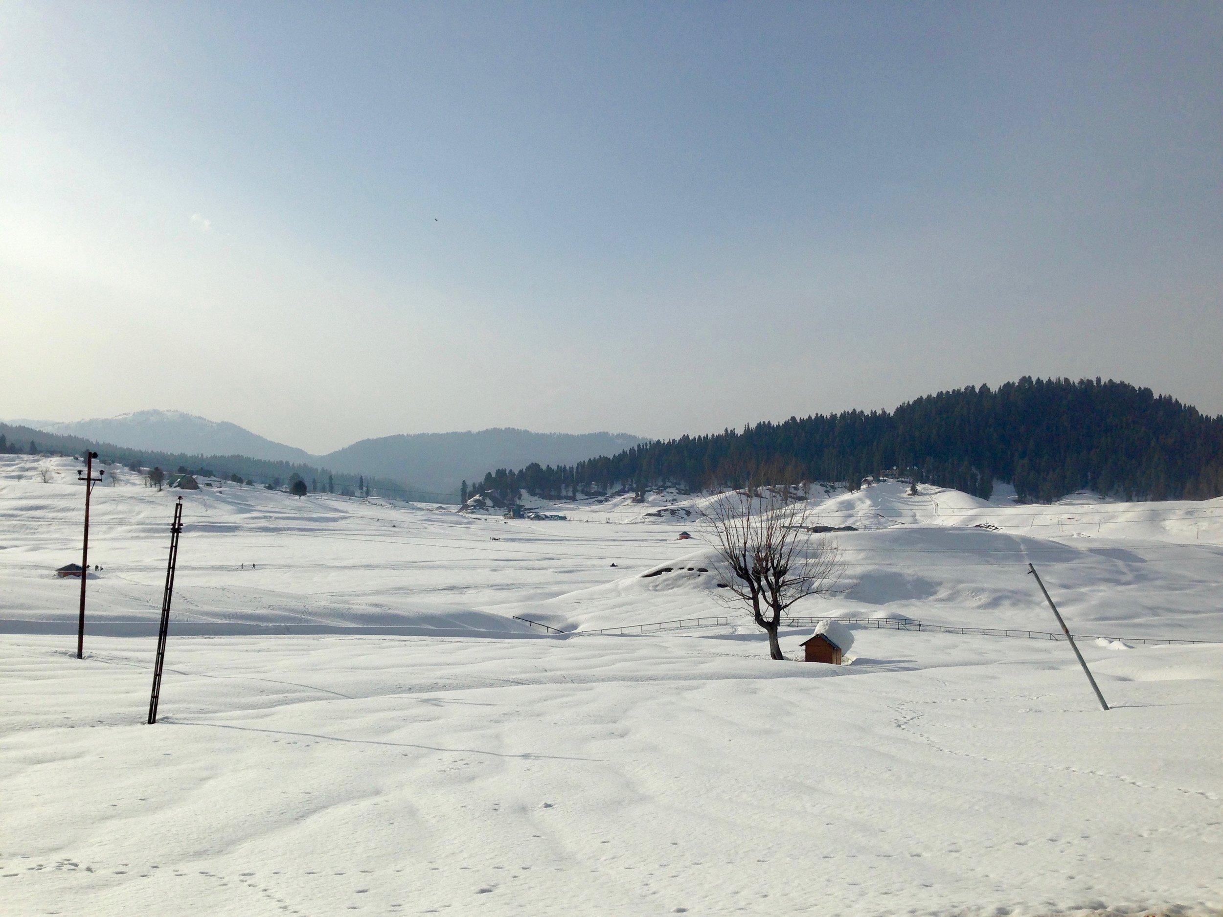 Gulmarg Golf Course Under Snow