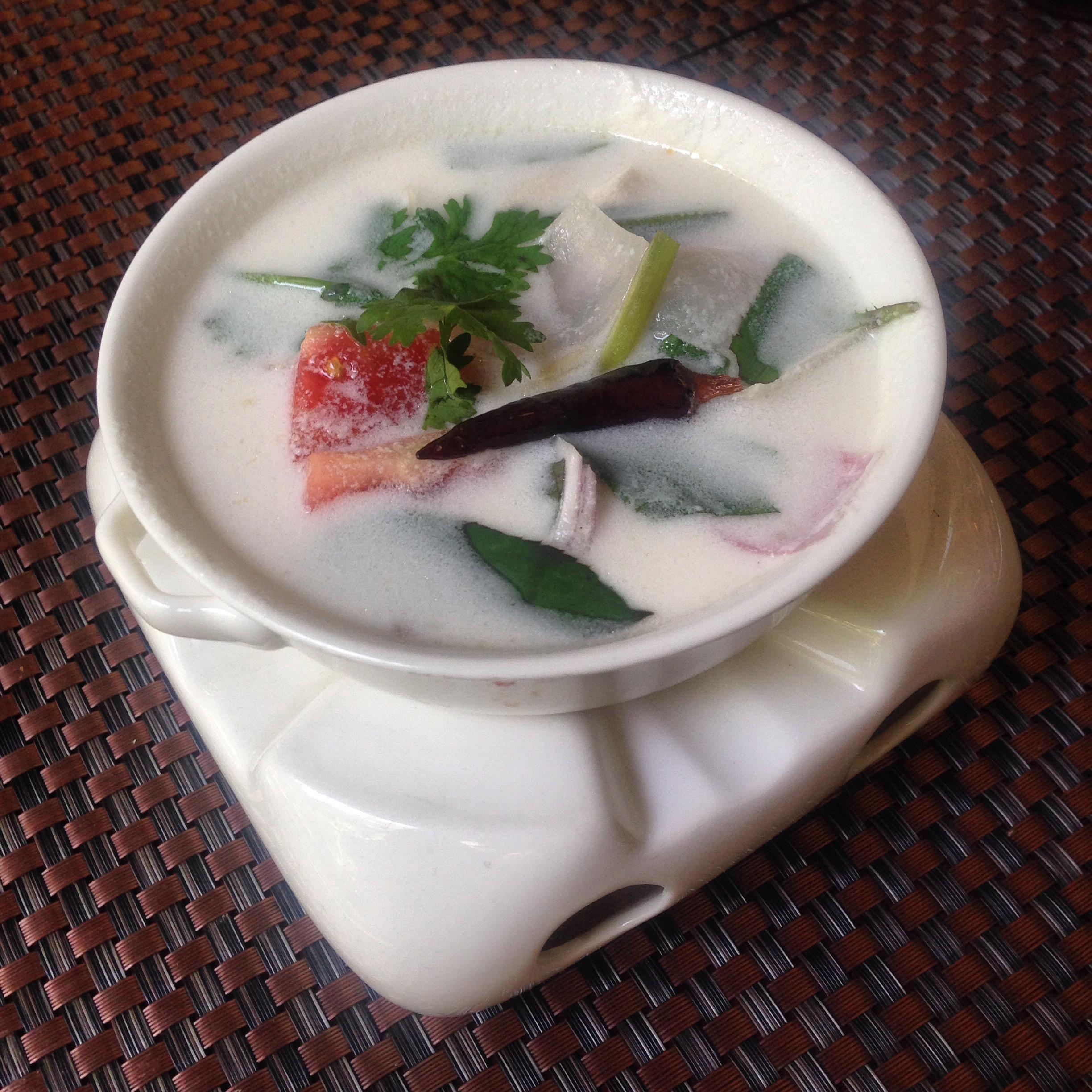 Tom Khar Gai- Chicken and Coconut Soup with Lemongrass