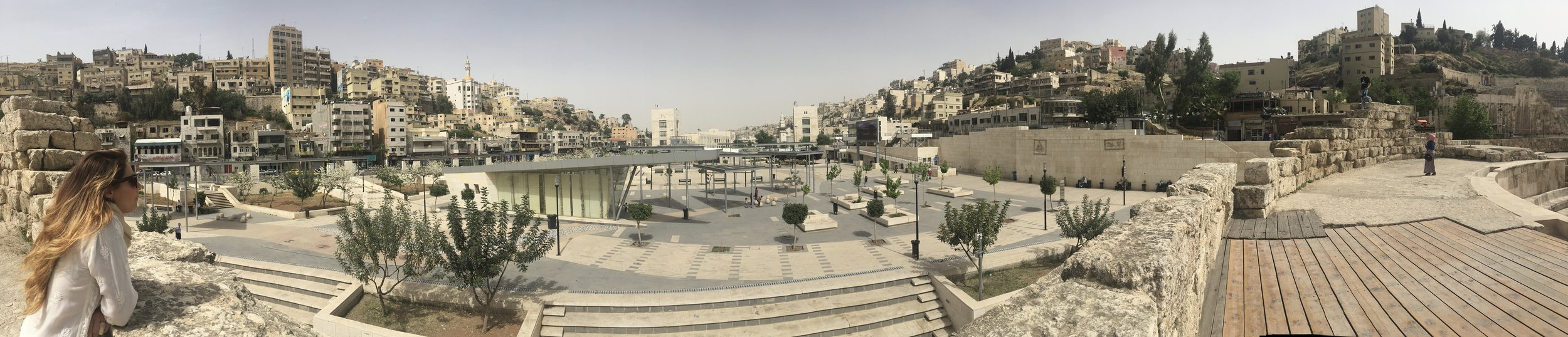 Beautiful Amman- looking over the Hashemite Plaza