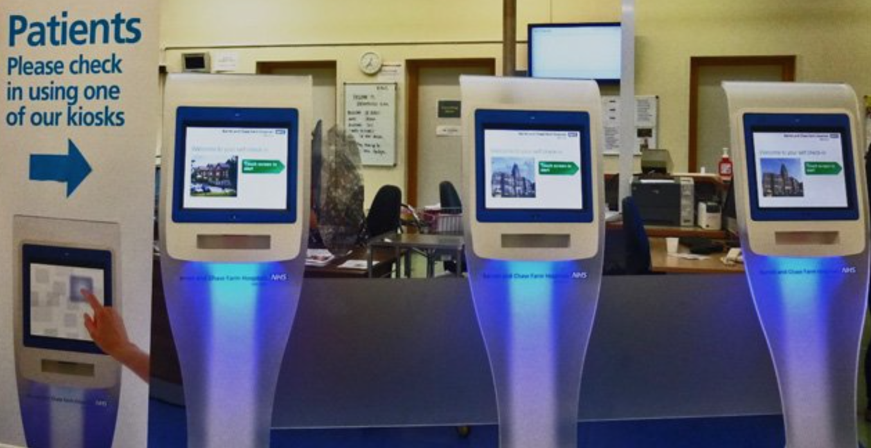 Doctors check-in kiosk