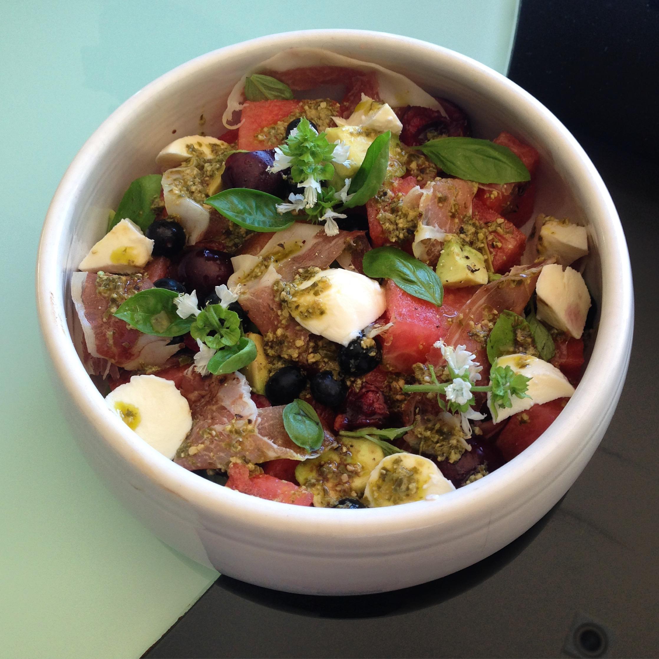 Watermelon & Procuitto Salad