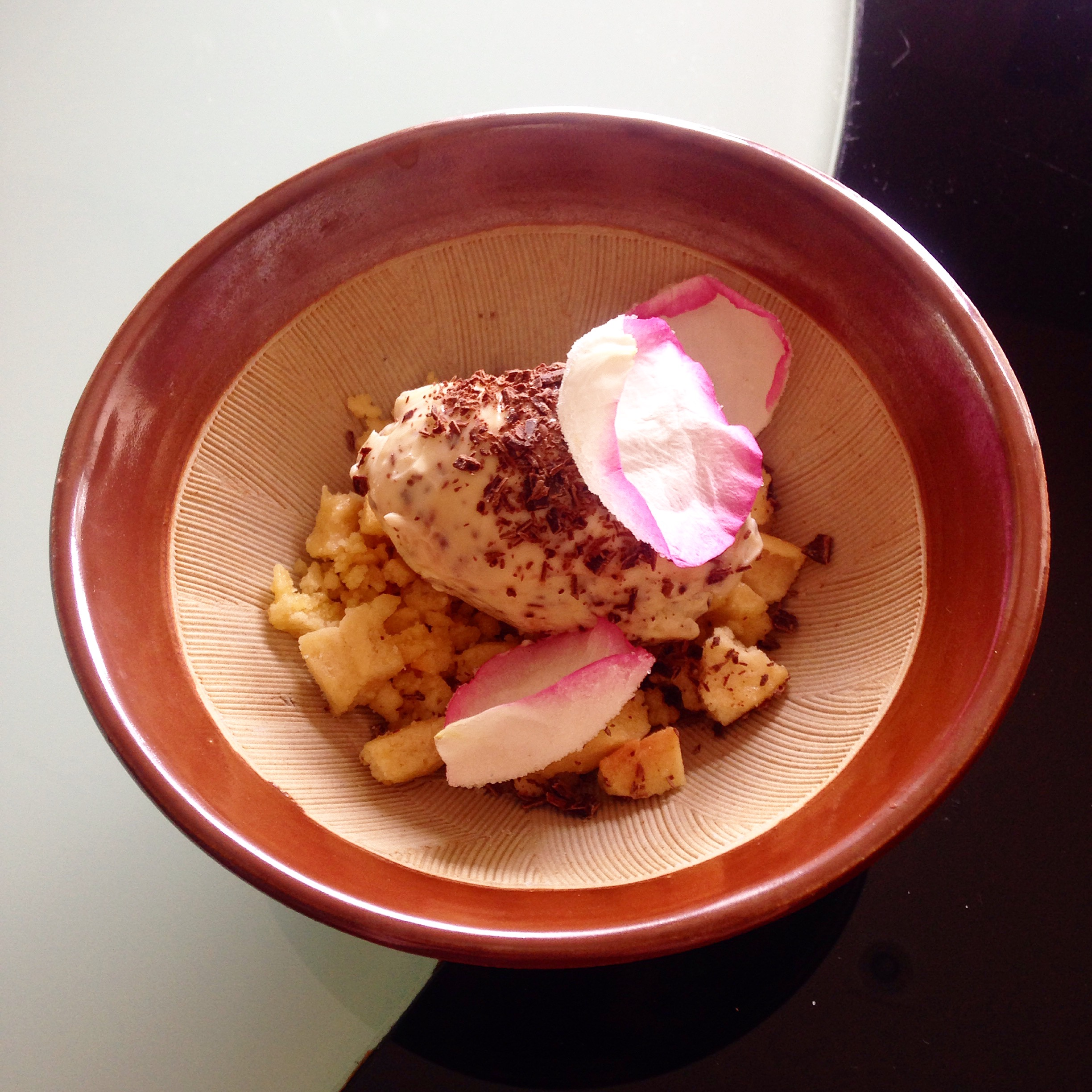 Deconstructed Rose Cheesecake