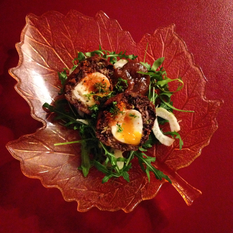 Killa Scotch Eggs w/ Fennel Salad