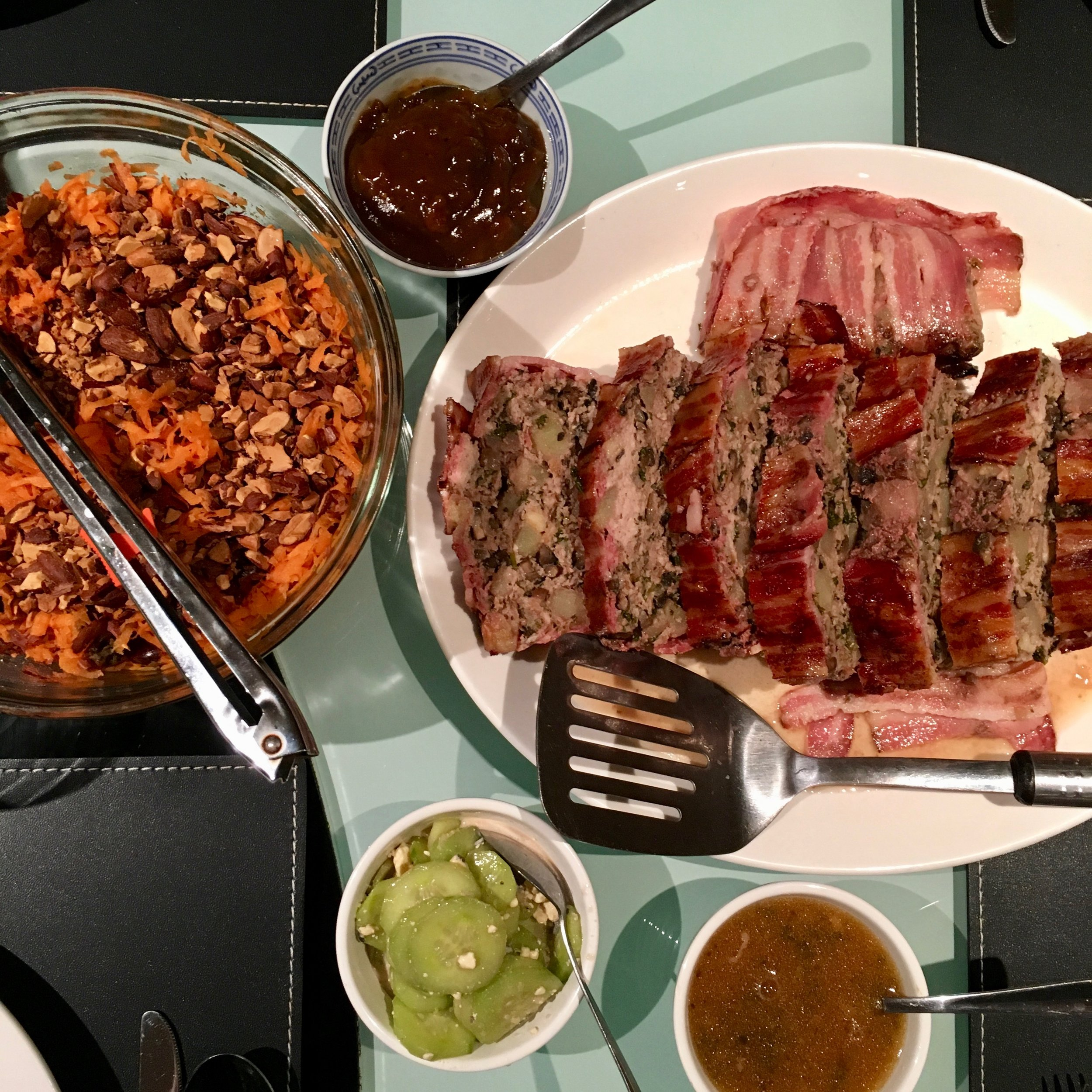 French Meatloaf & Moroccan Salad