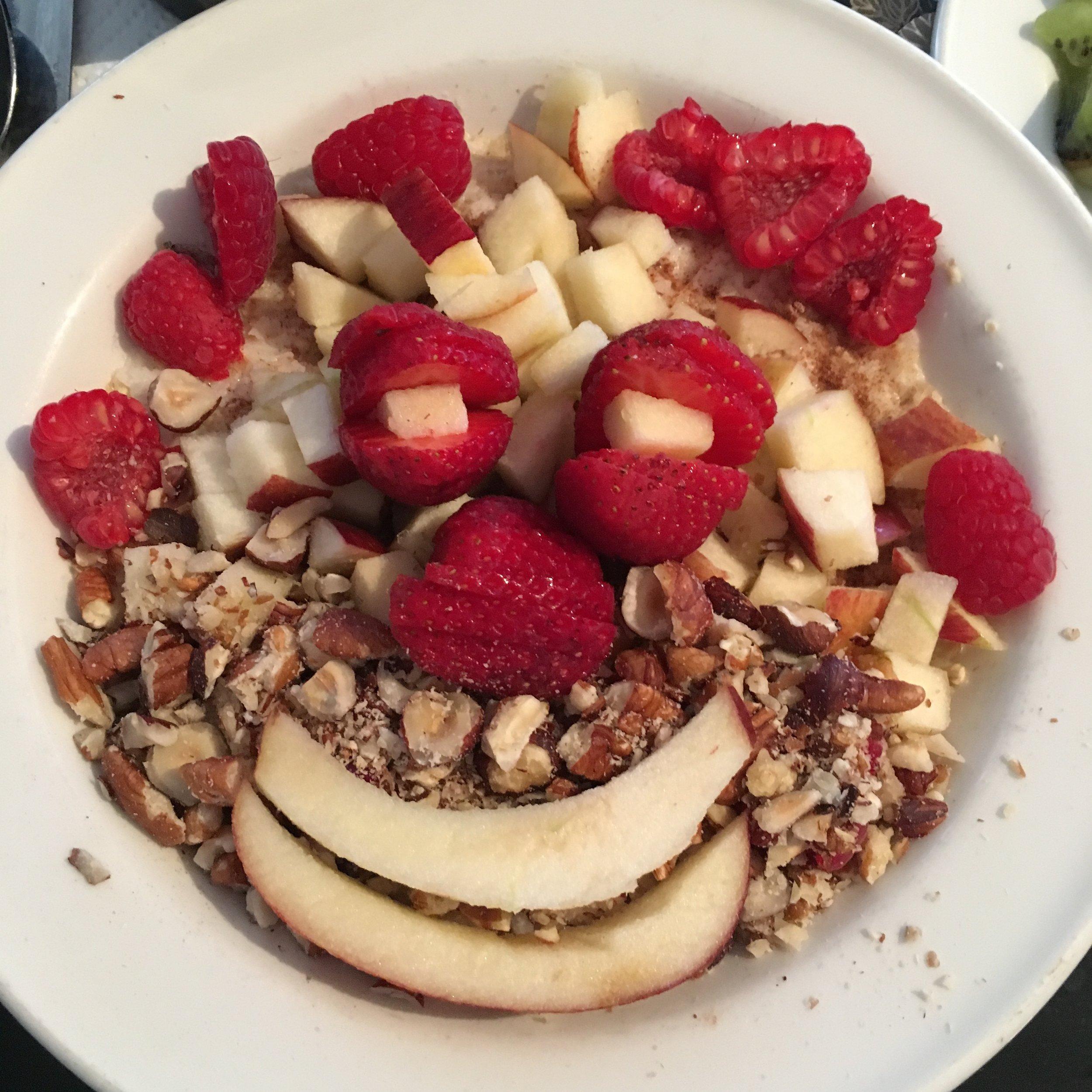 Winter Pecan & Raspberry Porridge