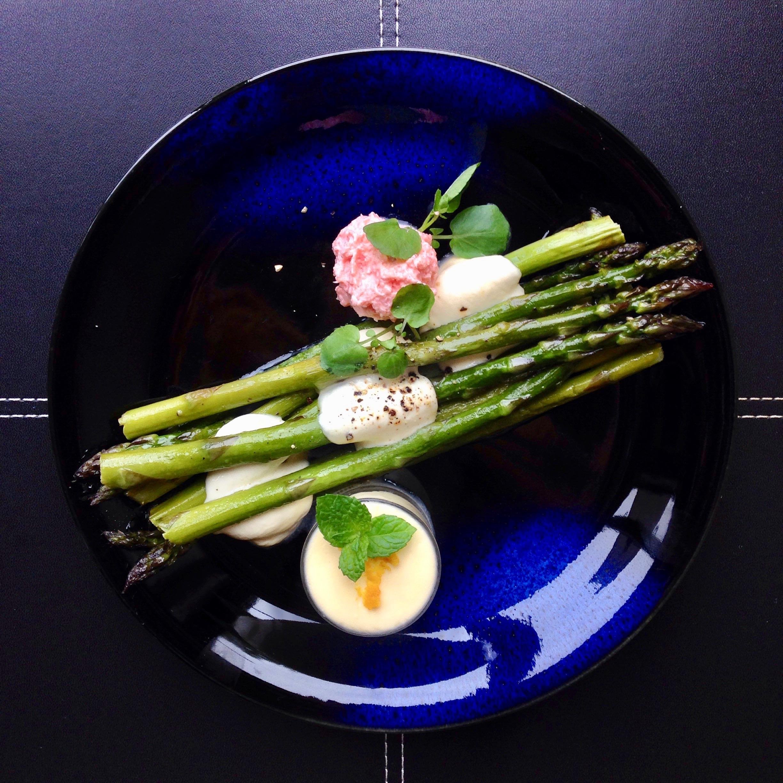 New Season Asparagus w/ Butter