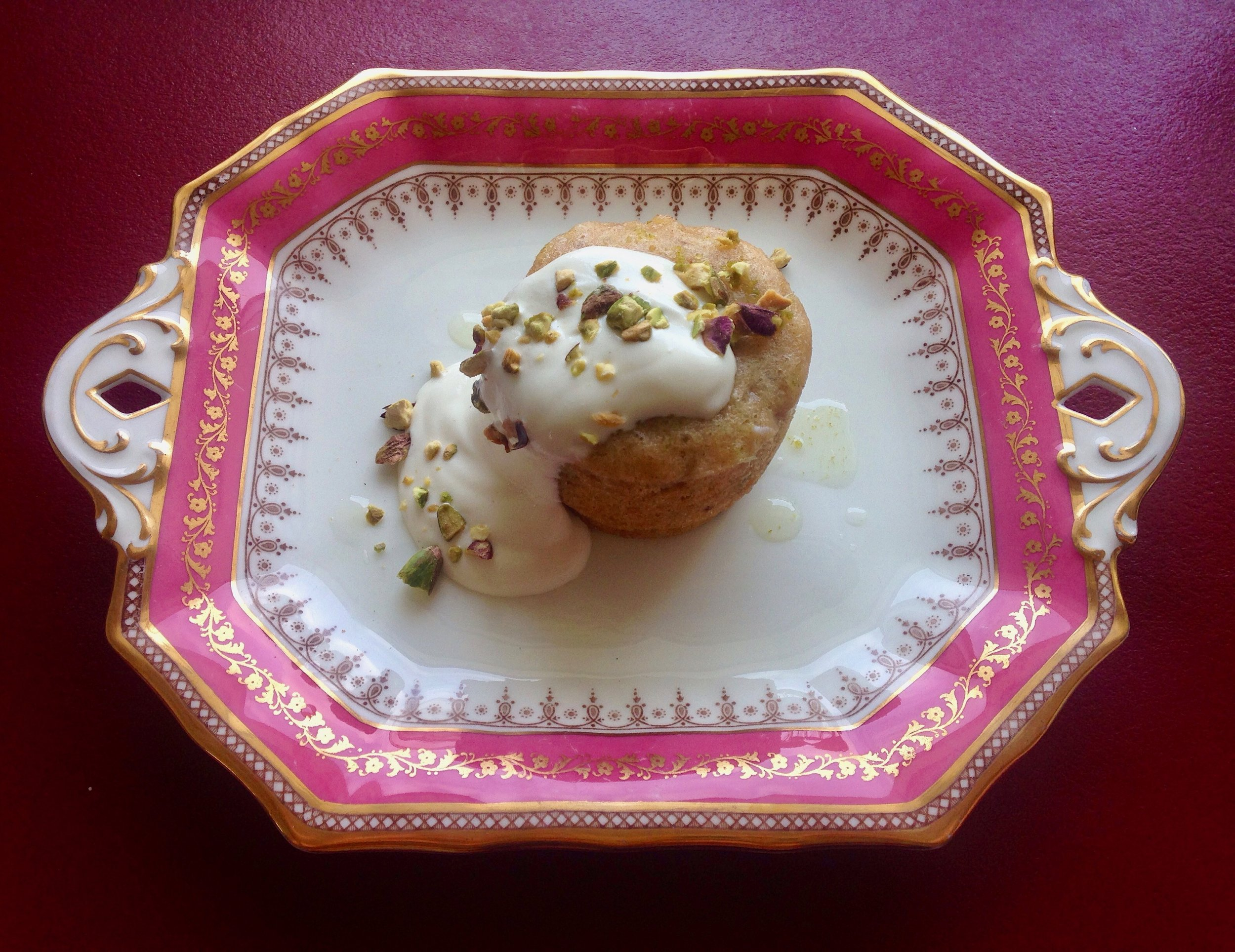 Steamed Pistachio | Banana Cake