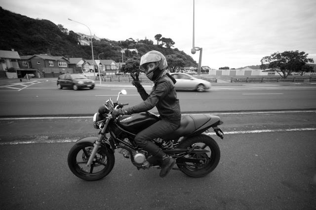Moxham's Honda VTR in New Zealand.  Photography:  Sean Aicken