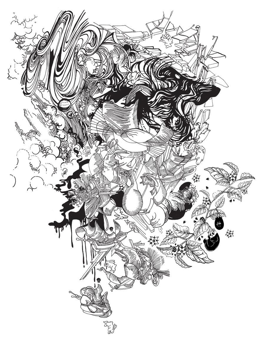 Moena Moxham's full tattoo design