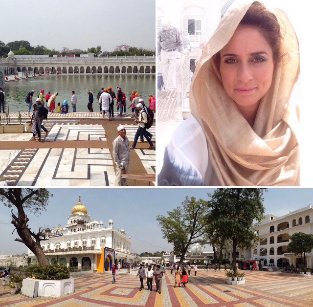 "Gurudwara Bangla Sahib, the most prominent Sikh gurdwara, or Sikh house of worship, in Delhi, India. It is known for the pool inside its complex, known as the ""Sarovar."""