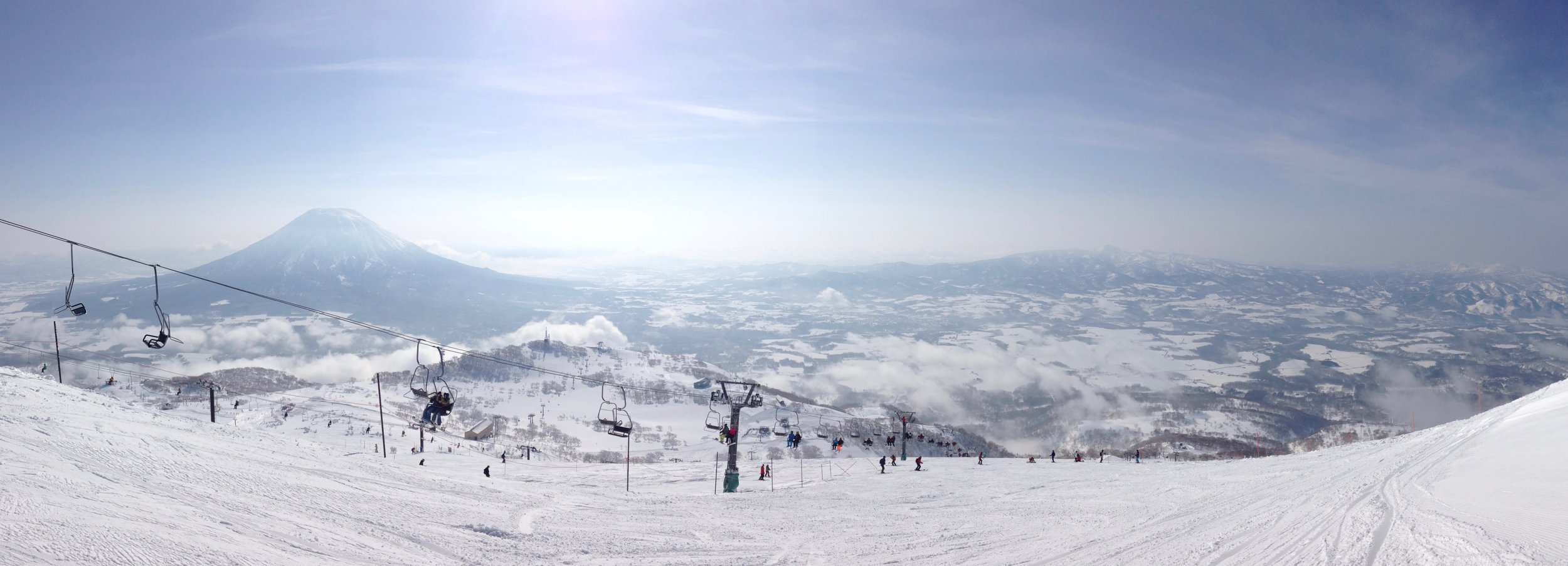 Mt Annapuri, Looking to Mt Yotei, Niseko, Japan