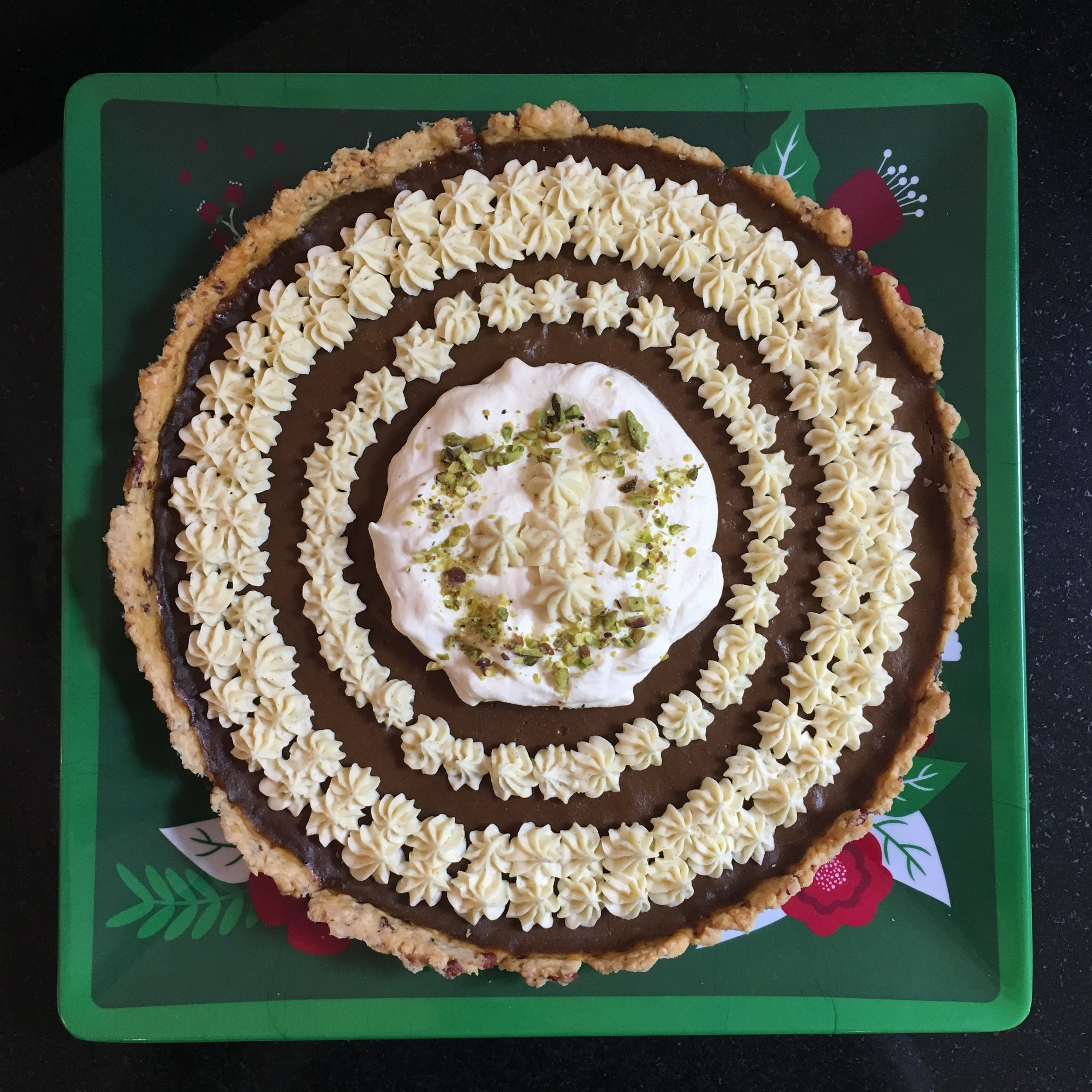 Pumpkin Pie w/ Pecan Pastry