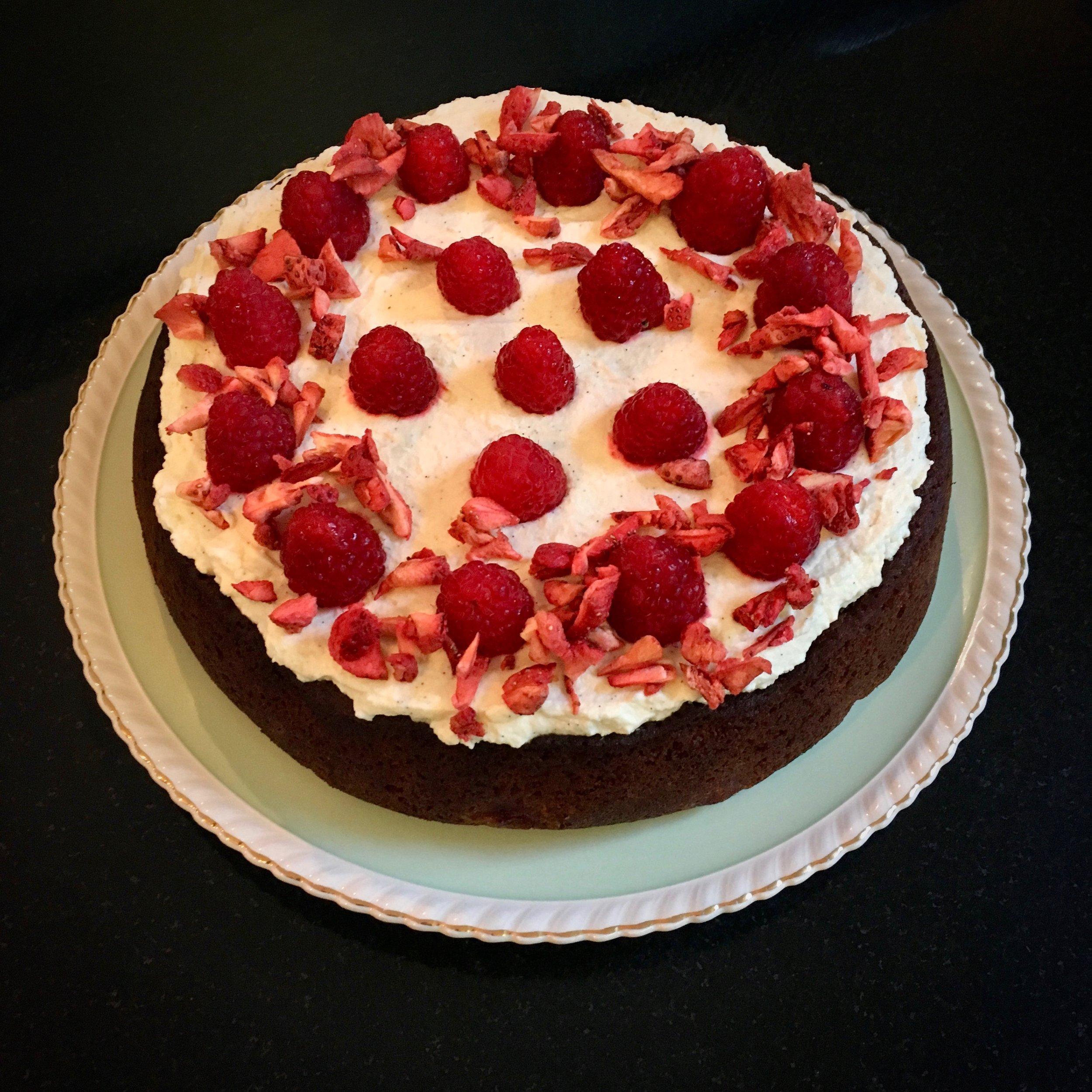 Fresh Raspberry & Rose Water Cake