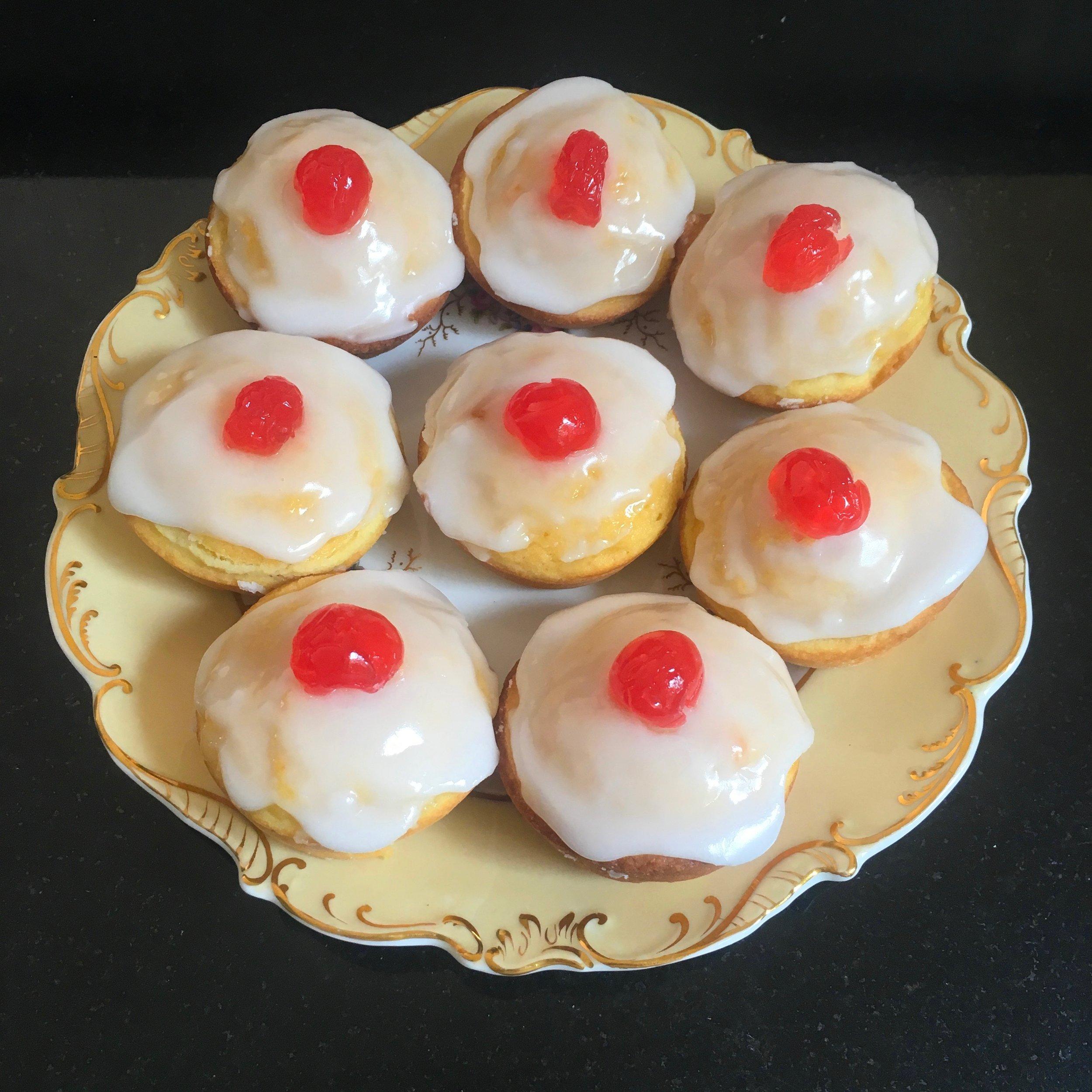 Cherry Bakewells aka 'Tittie Cakes'
