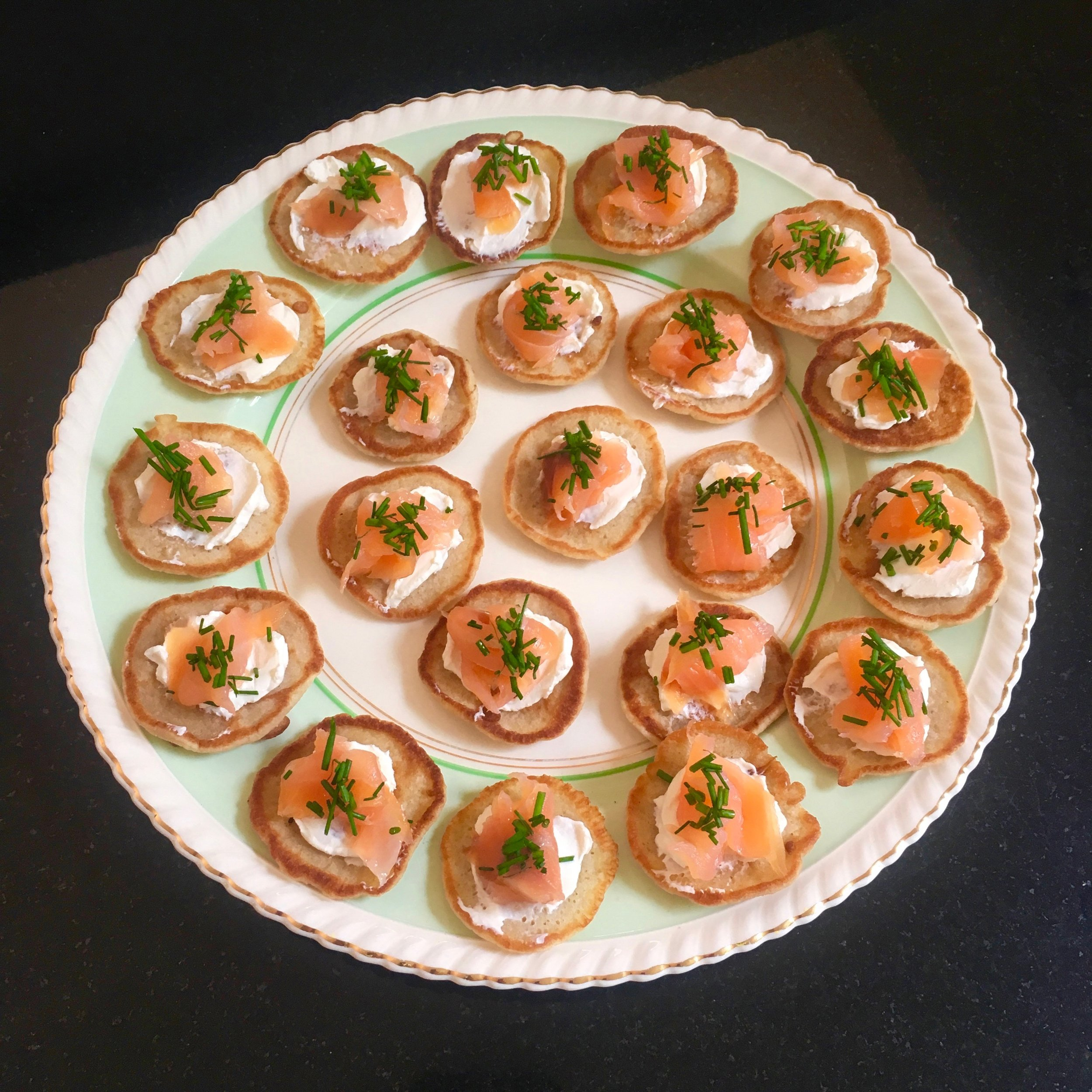 Russian Blini w/ Smoked Salmon