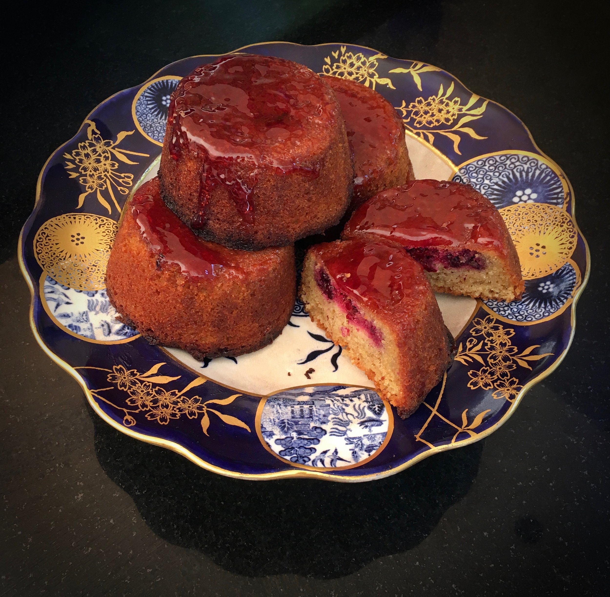 Blackberry Babycakes w/ Port Glaze