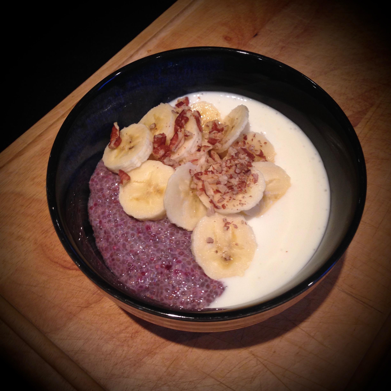 Blackberry Chia Porridge w/ Kefir