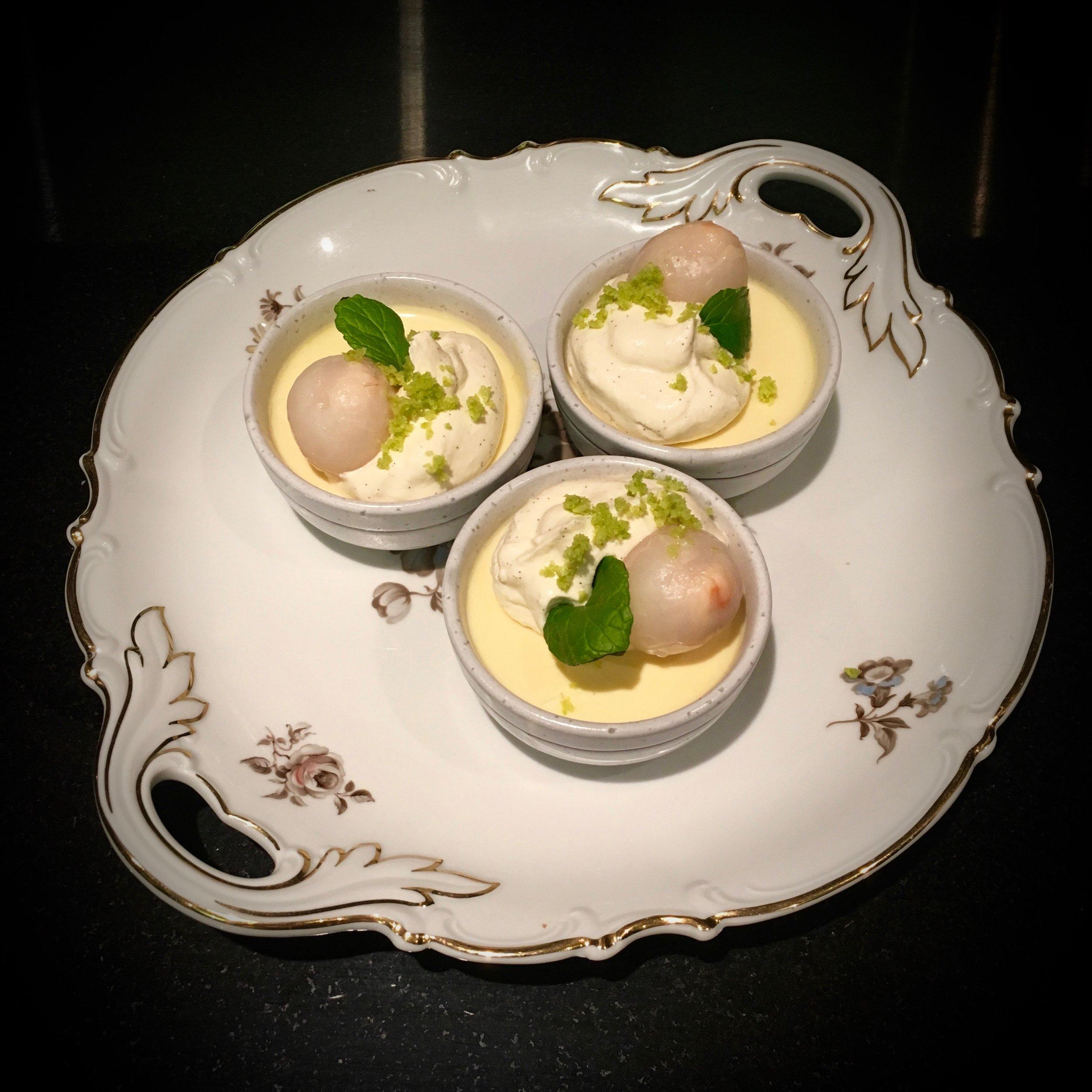 Lime & Lychee Custard Mini Ramekins