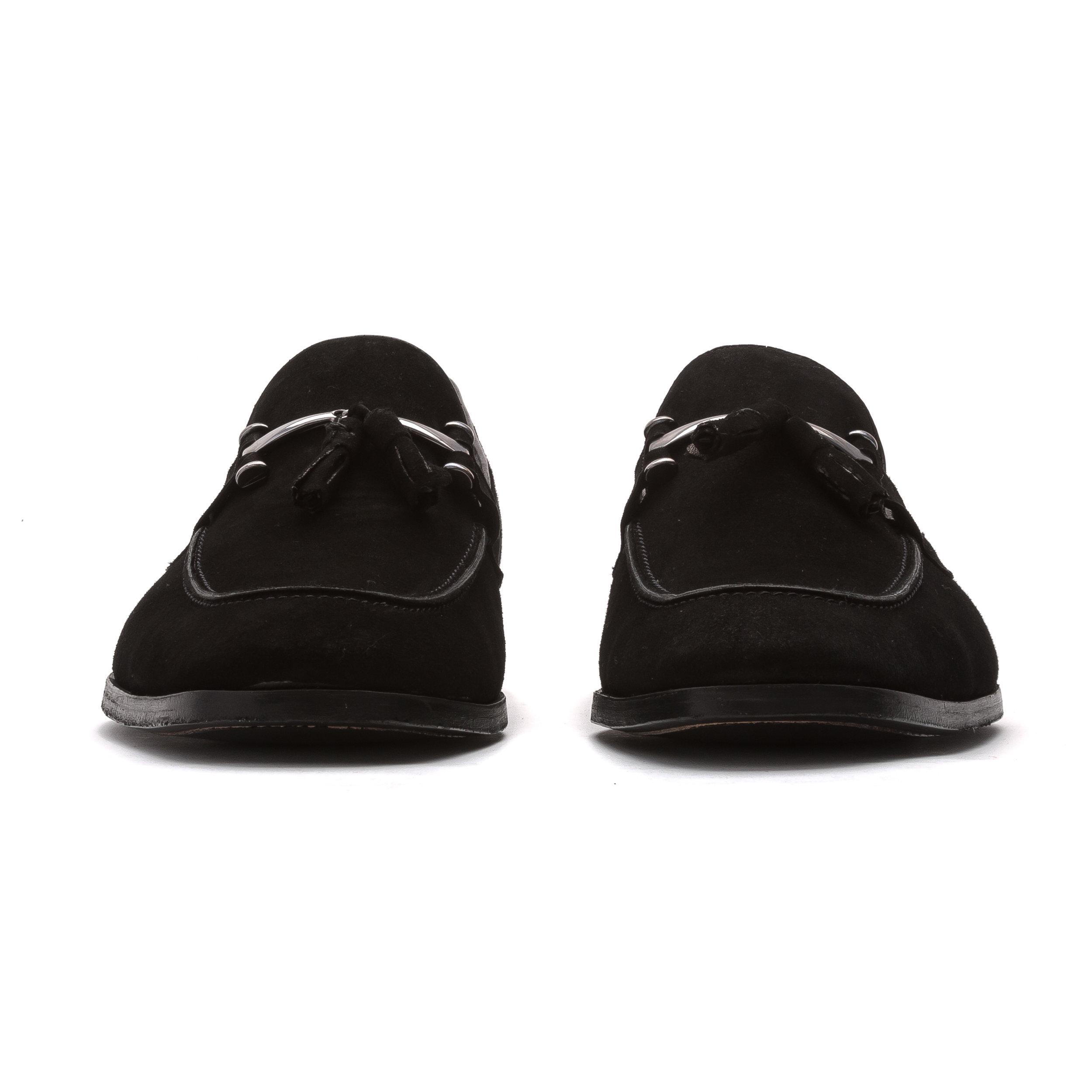405 Black Suede Loafer — J.L. Rocha