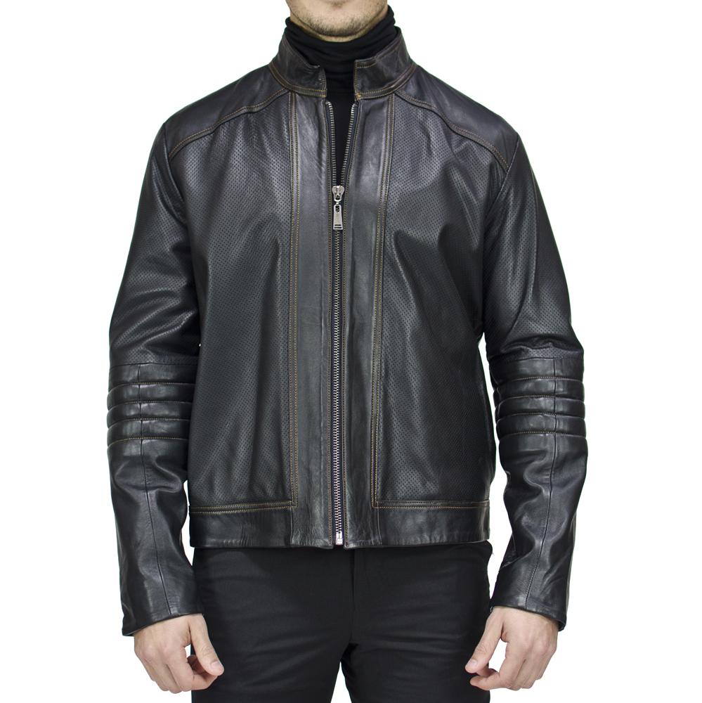 Luis perforated moto jacket. [$615]