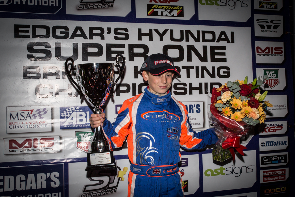 Winning the Shenington round of Super One in 2013.