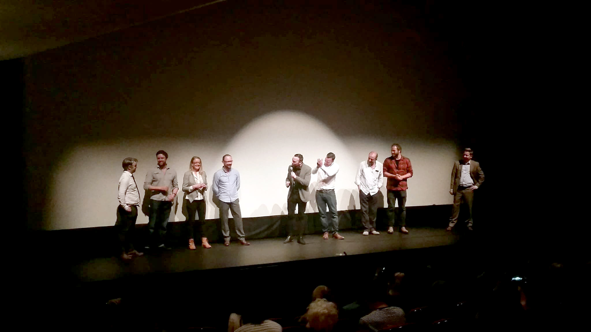 Q&A session after Galway screening