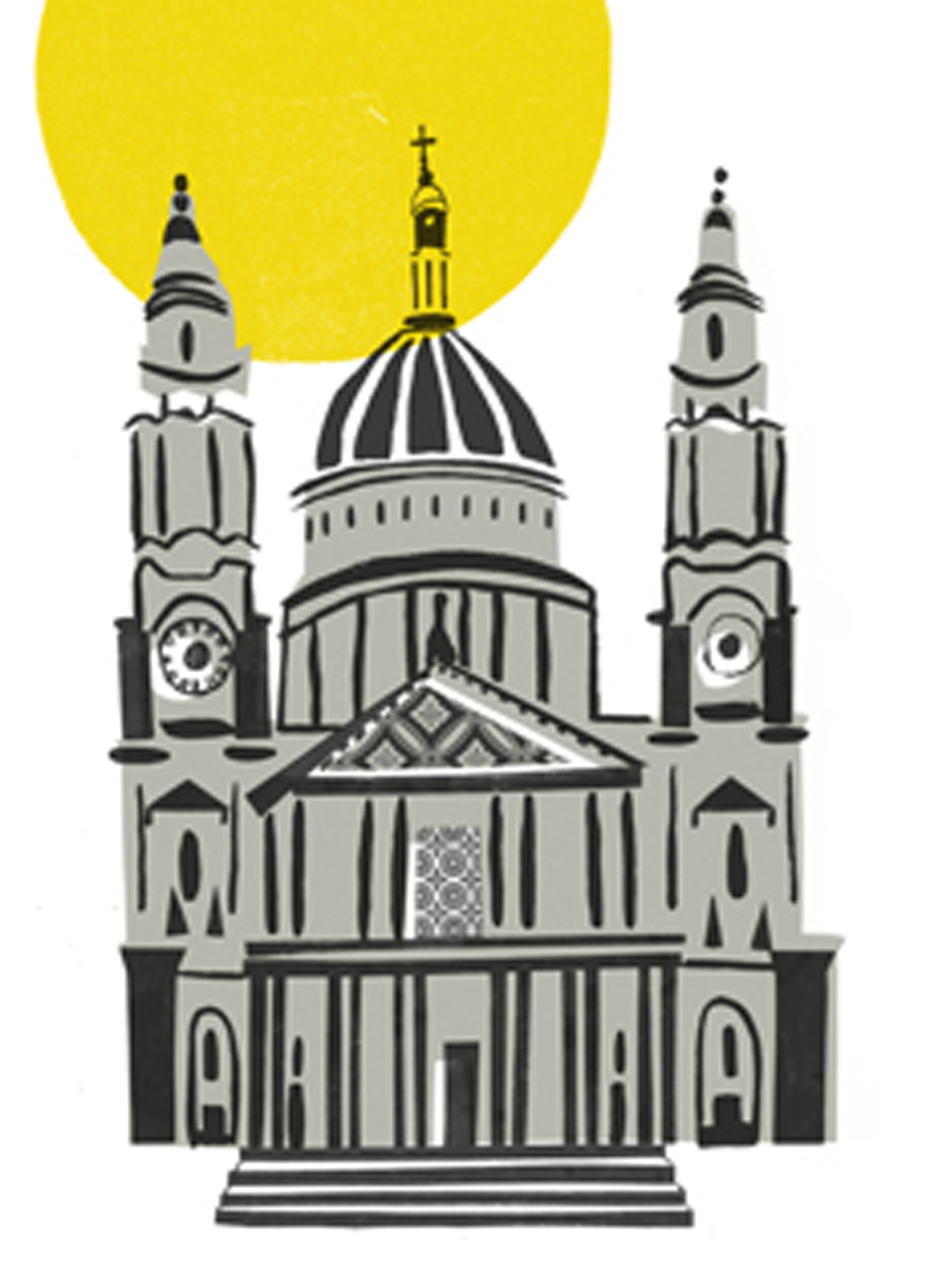 Small St Pauls  screenprint  £60 (unframed)