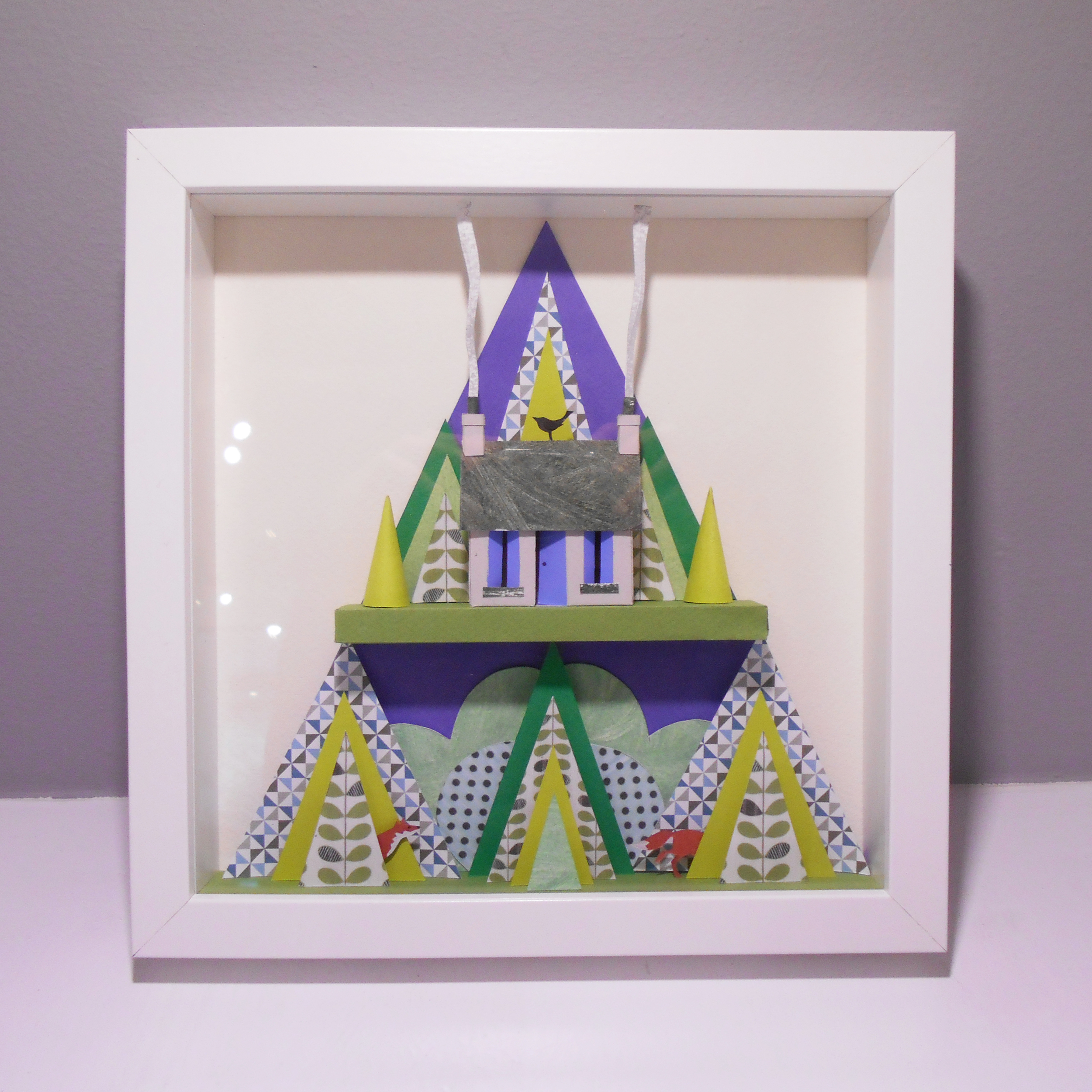 The House in the Pines  paper cut  sold
