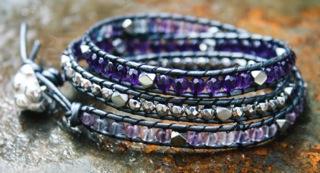 Lila Semi Precious Athena Bracelet