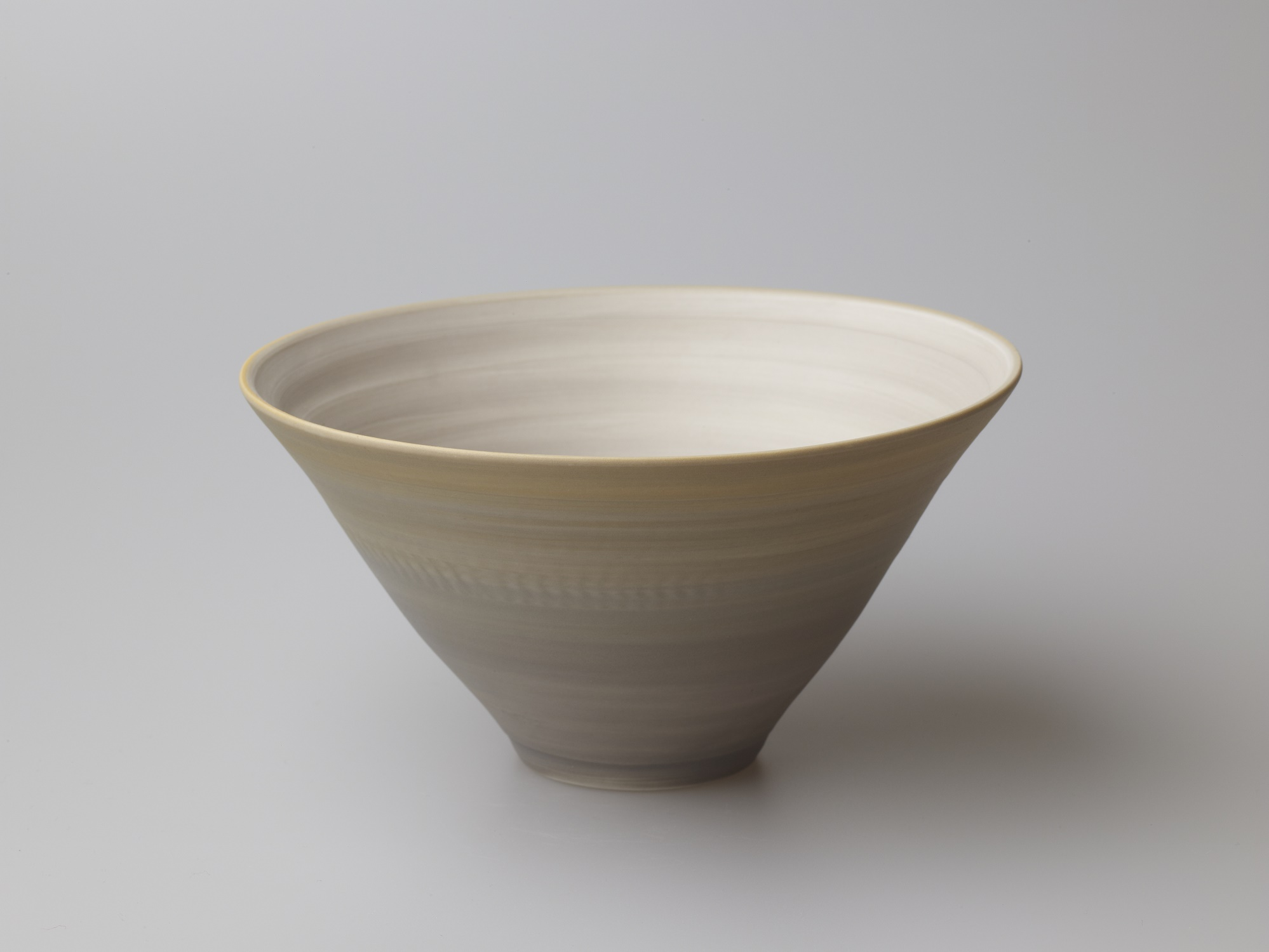 Medium Grey and Orange Bowl  16 x 8.5 cm  £80