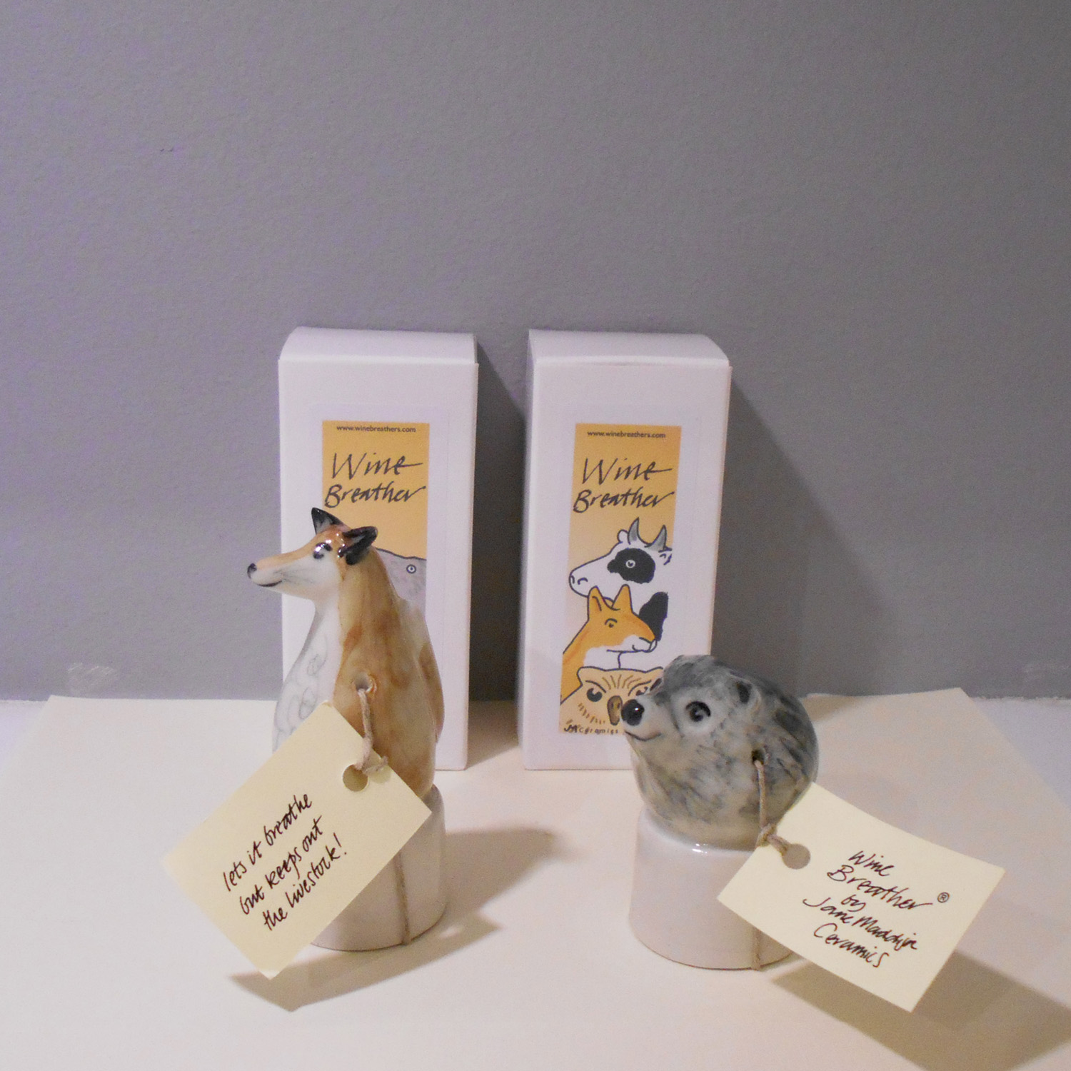 Jane Maddison   Wine Breather  ceramic  £22 each