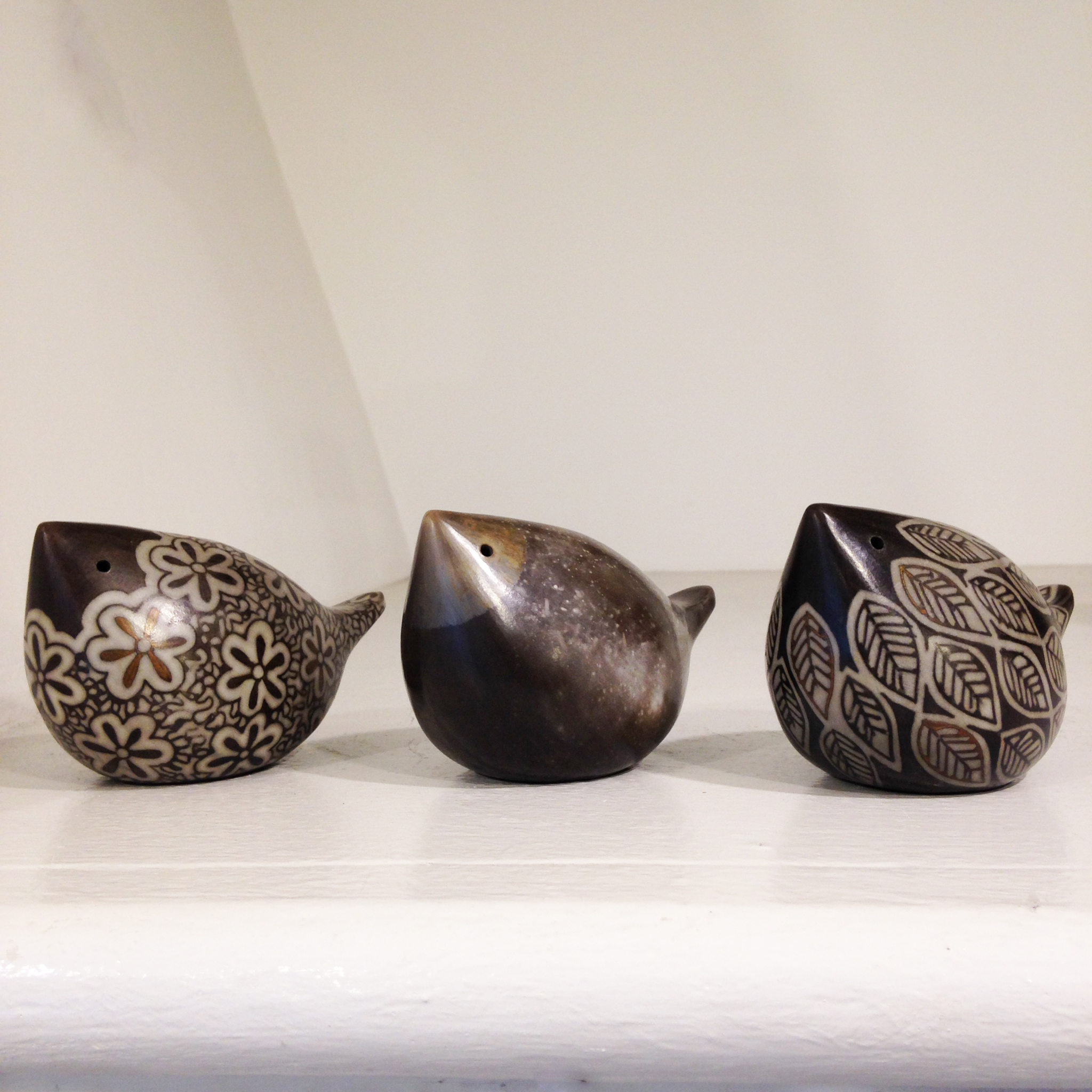 Debbie Barber   Raku Birds  ceramic  £50-£55