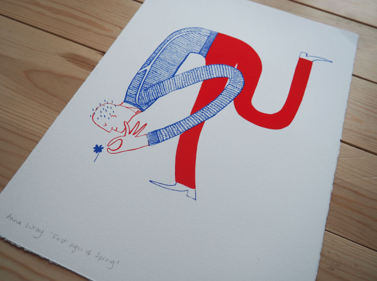 First Sign of Spring  screen print  size - A3  £50  (unframed)