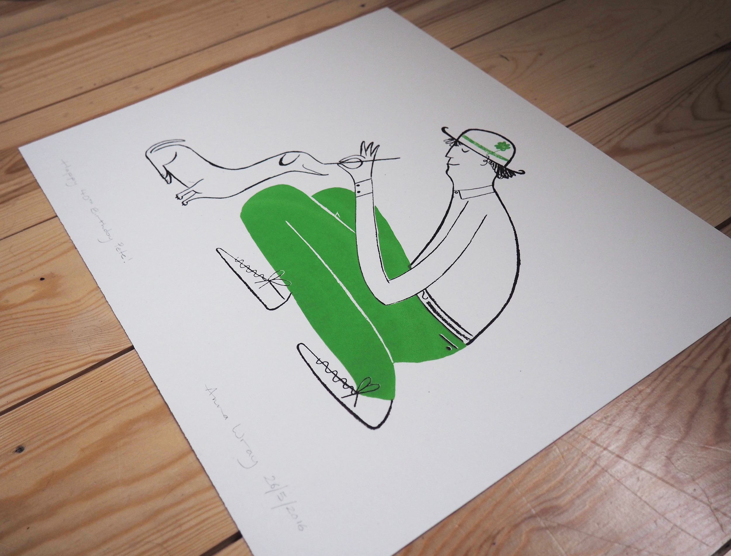 Sausage Dog  screen print  size - A3  £50  (unframed)