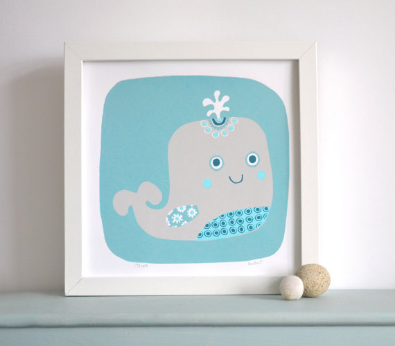 Happy Whale  screenprint  £25
