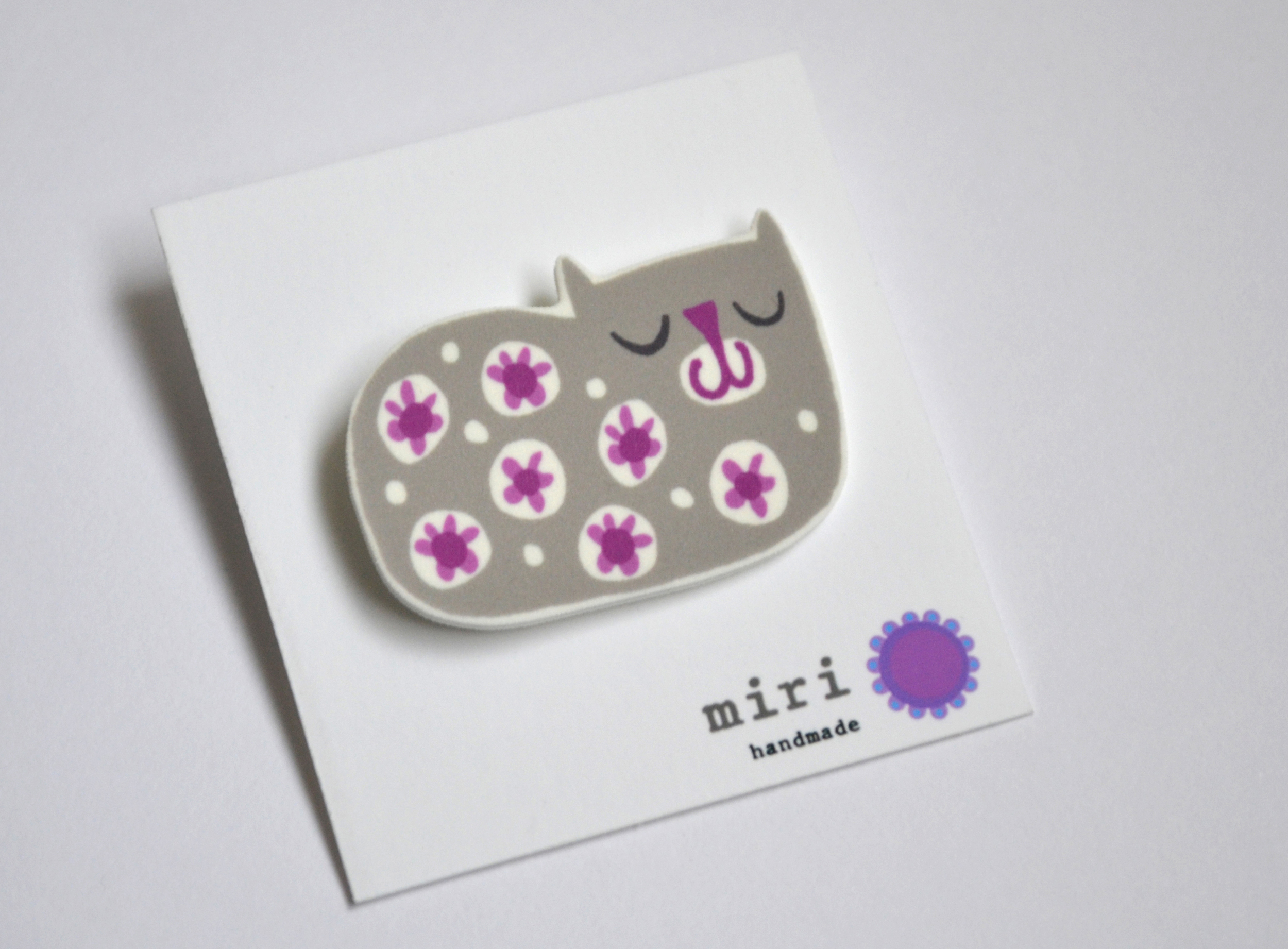 Brooch  screenprinted plastic  £12