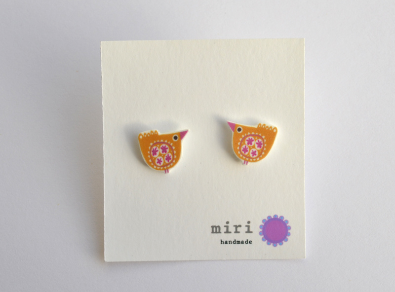 Studs  screenprinted plastic with silver  £12