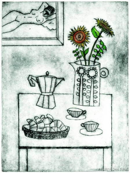 Coffee & Croissants  etching  £95