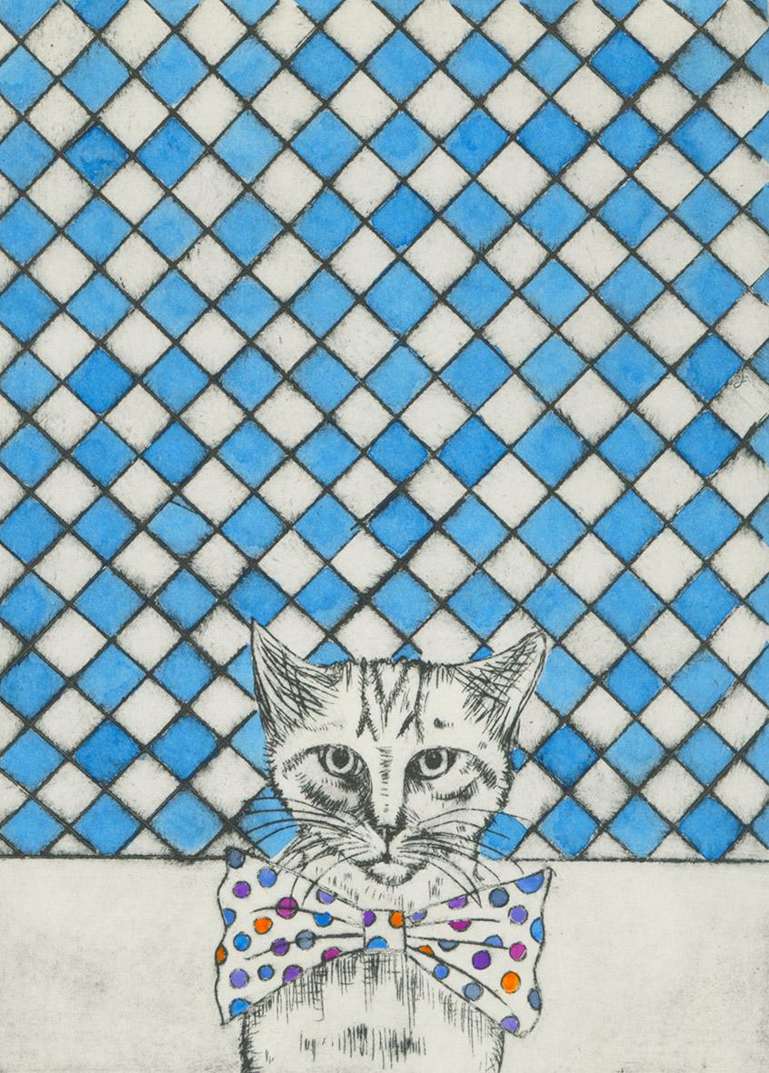 Cat  etching  20cm x 15cm  £95